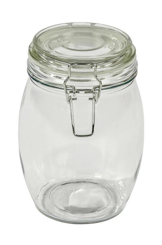 Einmachglas Ilonka, 1 Liter - Klar, KONVENTIONELL, Glas/Metall (11/17cm) - Luca Bessoni