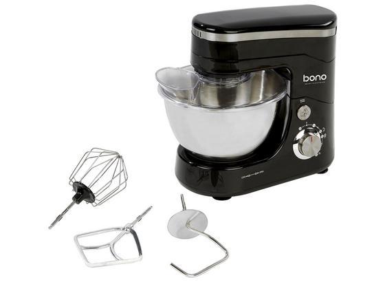 Küchenmaschine Lisa - Chromfarben/Schwarz, KONVENTIONELL, Kunststoff/Metall - Bono