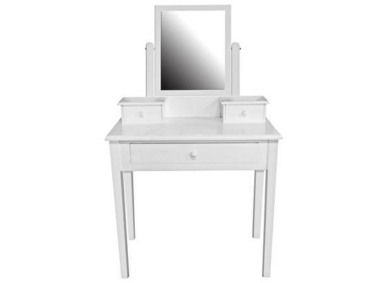 Kozmetický Stolík Vanessa - biela, Moderný, drevo/kompozitné drevo (80/132/40cm)