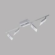LED-Spotleuchte Ervas - Chromfarben/Weiß, MODERN, Glas/Metall (8/78cm)
