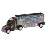 Spielzeugauto Auto-transport-lkw - Blau/Gelb, Kunststoff/Metall (49/16/10cm)