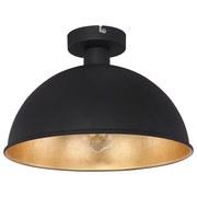 Deckenleuchte Ø 31 cm mit Goldfarbenem Lampenschirm - Goldfarben/Schwarz, MODERN, Metall (31/20cm)