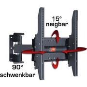 """TV-Wandhalterung Bis 70"""" Dreh- U. Ausziehbar Ws 205 Max 25 kg - Schwarz, KONVENTIONELL, Metall (40/40/32cm) - Livetastic"""
