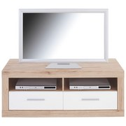 TV-Element Malta - Eichefarben/Weiß, MODERN, Holz (128/50/42cm)