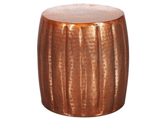Beistelltisch Fassform Aus Handarbeit Jamal, Kupferfarben - Kupferfarben, LIFESTYLE, Metall (38/38/42cm) - Livetastic
