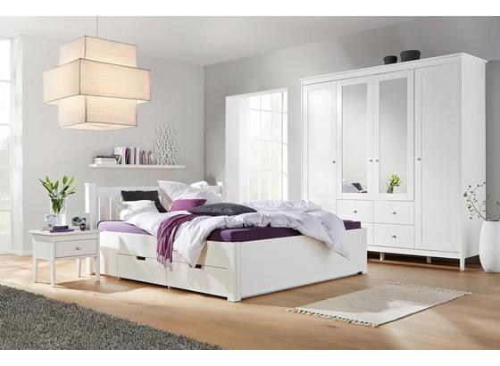 Posteľ Lyon - biela, Romantický / Vidiecky, drevo/kompozitné drevo (140/200cm) - Zandiara