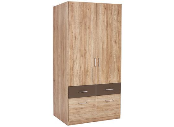 Skříň Šatní Aalen-extra - šedá, Konvenční, kompozitní dřevo (91/197/54cm)
