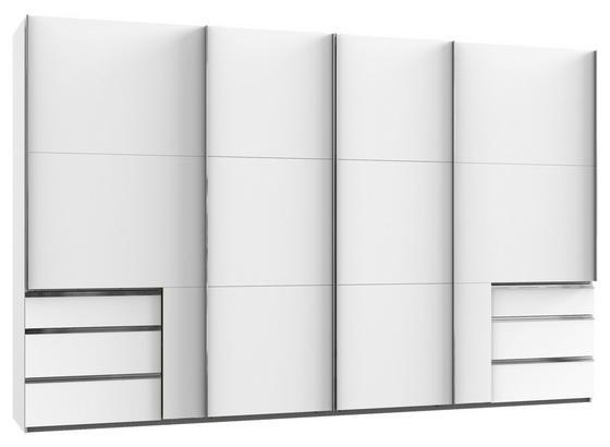 Schwebetürenschrank Level 36a B: 350cm Weiß - Weiß, Basics, Holzwerkstoff (350,00/216,00/65,00cm)