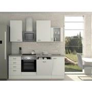 Küchenblock Wito 220cm Weiß - Weiß/Grau, MODERN, Holzwerkstoff (220/230/60cm) - Bessagi Home