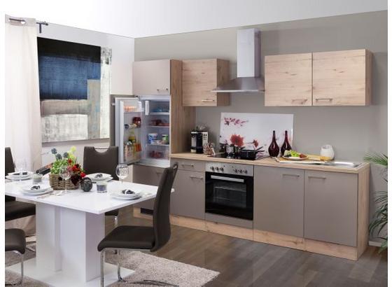 Küchenblock Riva B: 270cm Eiche/Champagner - Eichefarben, MODERN, Holzwerkstoff (270cm) - MID.YOU