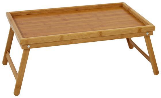 Betttablett Karl - Naturfarben, KONVENTIONELL, Holz (50/30/24cm) - James Wood