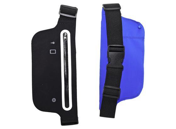 Sporttasche für Gürtel/Hüfte - Blau/Schwarz, Basics, Textil (35/12/2cm)