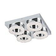 LED-Deckenleuchte Fradelo - Chromfarben/Klar, MODERN, Glas/Kunststoff (28/28/6cm)