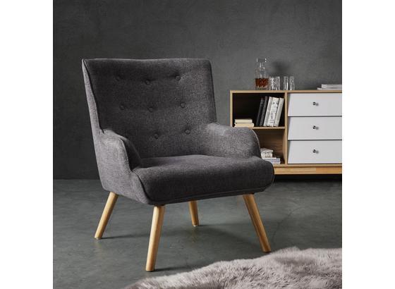 Kreslo Sira - sivá, Moderný, drevo/textil (73/91/85cm) - Mömax modern living