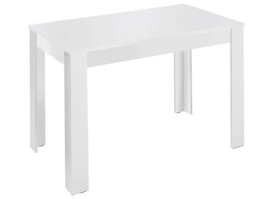 Esstisch Nick L: ca. 120 cm Weiß - Weiß, MODERN, Holzwerkstoff (120/80/75cm) - Livetastic