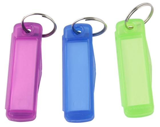 Schlüsselanhänger Fackelmann - Blau/Pink, KONVENTIONELL, Kunststoff (2/6cm) - Homeware