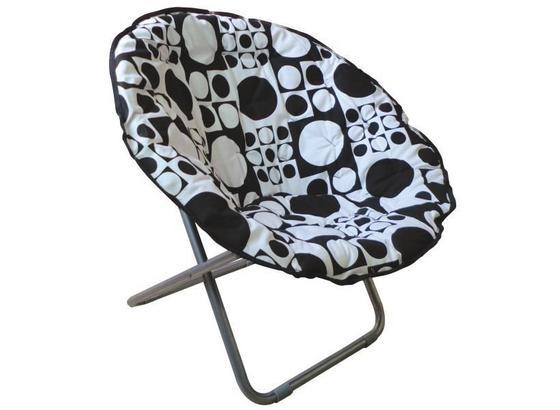 Skládací Židle Papa Sam - bílá/černá, Moderní, kov/textilie (86/80/65cm)