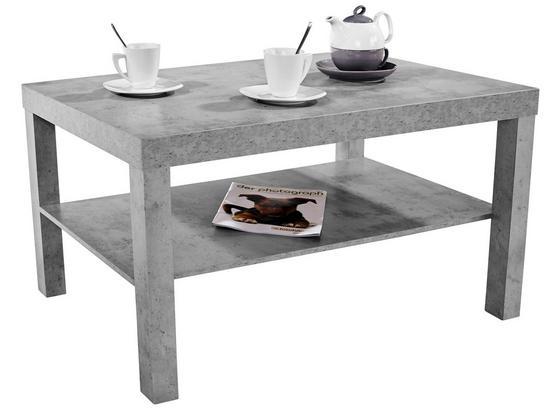 Couchtisch Holz mit Ablageflächen Light, Hellgrau - Grau, MODERN, Holzwerkstoff/Kunststoff (90/45/55cm)