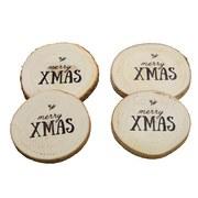 Untersetzer Weihnachten - Naturfarben, KONVENTIONELL, Holz (10cm)