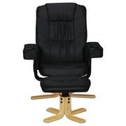 Relaxsesselset Comfort Duo B: ca. 80 cm - Birkefarben/Schwarz, KONVENTIONELL, Textil (80/92/80cm) - Carryhome