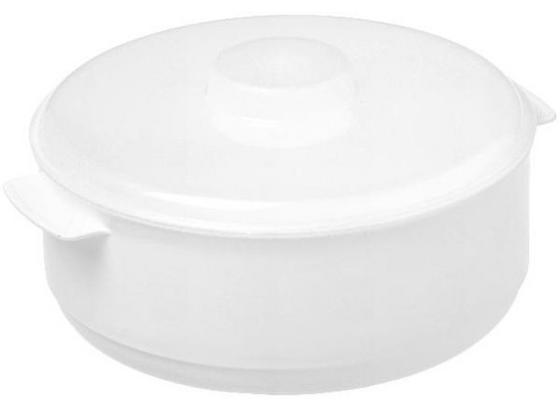 Mikrowellenschüssel 2 Liter - Rot/Weiß, KONVENTIONELL, Kunststoff (20/10,4cm)