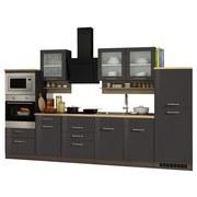 Küchenblock Mailand B: 330 cm Anthrazit - Anthrazit/Weiß, Basics, Holzwerkstoff (330/200/60cm) - MID.YOU