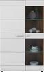 Vitrine Avensis - Eichefarben/Schwarz, MODERN, Glas/Holzwerkstoff (95/155,9/37,1cm) - Luca Bessoni