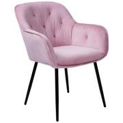 Stuhl Salerno B: 63 cm Rosa - Schwarz/Rosa, MODERN, Textil/Metall (63/87/64cm) - MID.YOU