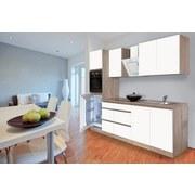Küchenblock Premium B: 270 cm Weiß Matt - Eichefarben/Weiß, MODERN, Holzwerkstoff (270cm) - MID.YOU