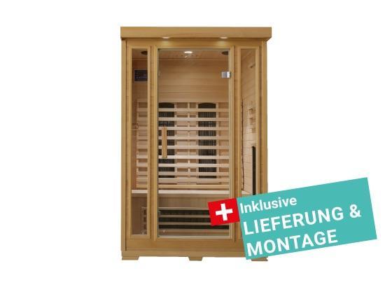 Infrarotkabine Kuppari inkl. Lieferung & Montage - Naturfarben, MODERN, Holz (120/190/105cm)