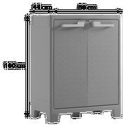 Kunststoffschrank Moby Niedrig 80/100/44 - Anthrazit, MODERN, Kunststoff (80cm) - Keter