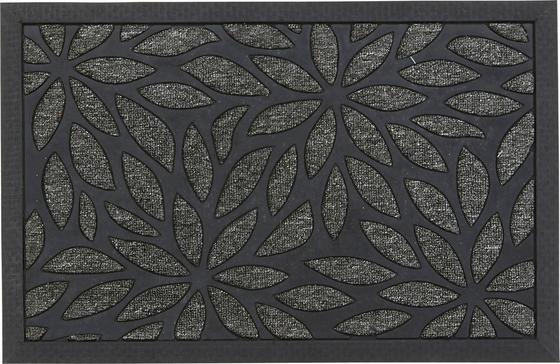 Lábtörlő Albertina - Fekete/Ezüst, modern, Műanyag (40/60cm) - Ombra