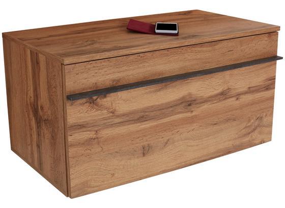 Šatní Lavice Venedig - barvy dubu, Moderní, kompozitní dřevo (90/45/38cm)