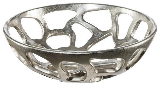 Dekoschale Ø 40 cm - Silberfarben, MODERN, Kunststoff (40/13,5cm)
