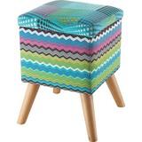 Hocker Patchwork 31 cm - Multicolor/Naturfarben, MODERN, Textil (31/44/31cm)