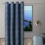 Ösenvorhang Carmen - Blau, ROMANTIK / LANDHAUS, Textil (140/245cm) - James Wood
