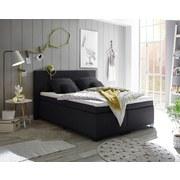 Boxspringbett Sunrise 1 ca. 140x200 cm - Schwarz, Basics, Holzwerkstoff/Textil (140/200cm) - Carryhome