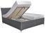 Čalouněná Postel Lauren - bílá/antracitová, Konvenční, dřevo/textilie (186/111/220cm)