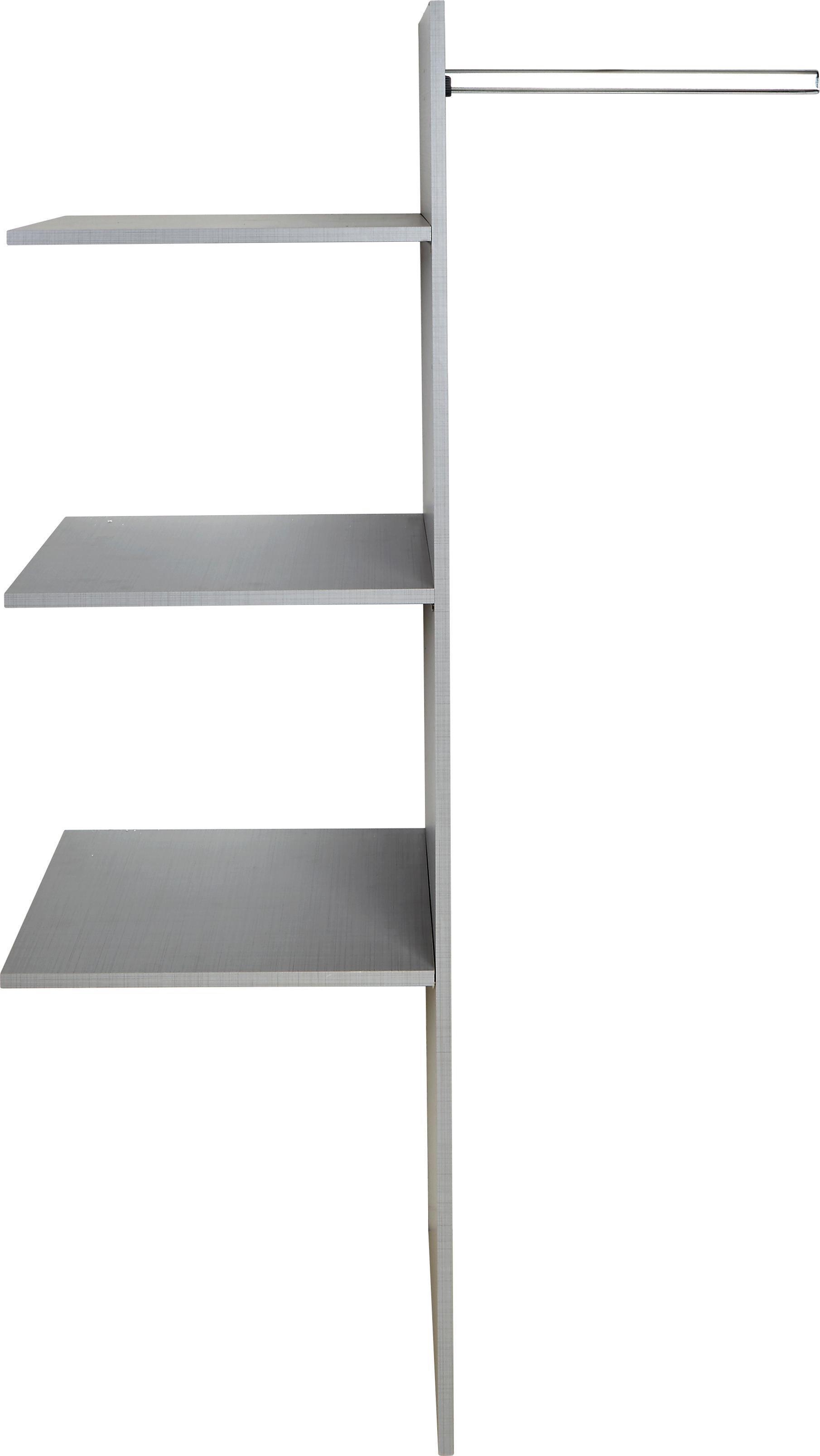 Belső Elosztás Tolóajtós Szekrényhez - szürke, fa (87/147/50cm)