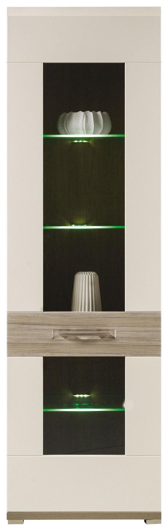Vitrína Bristol - dřevo (58/193,6/40,2cm)