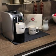 Teekanne Kapselmaschine Tealounge Silber/Schwarz - Silberfarben, Basics, Kunststoff (15/29,7/39,8cm)