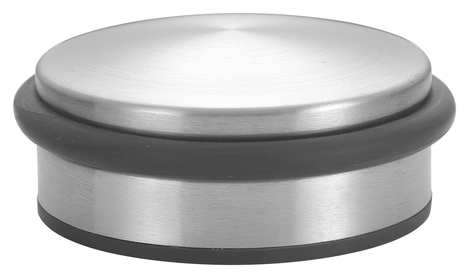 Ajtóütköző Dorian - fekete/ezüst színű, konvencionális, fém (10/3,5cm)