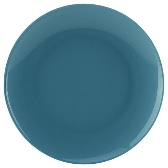 Talíř Dezertní Sandy - modrá, Konvenční, keramika (20,4/1,8cm) - Mömax modern living