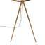 Stojacia Lampa Nevio - zlatá, Štýlový, kov (65/140cm) - Modern Living