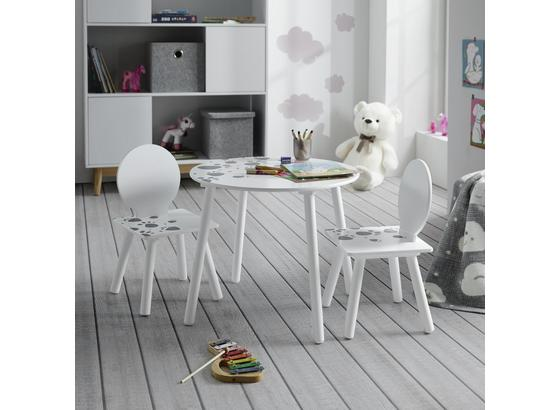 Detská Sedacia Súprava Sami - sivá/biela, Moderný (30/60/55,5/50,5/30/60cm) - Modern Living