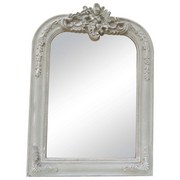 Wandspiegel Beauty - Weiß, MODERN, Glas/Holzwerkstoff (67/94/4cm)