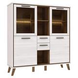 Komoda Highboard Malvin - barvy dubu, Moderní, kov/dřevěný materiál (134,2/143,7/41,5cm)