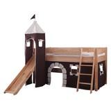 Spielbett Kim 90x200 cm Buche Massiv - Beige/Braun, Design, Holz (90/200cm)