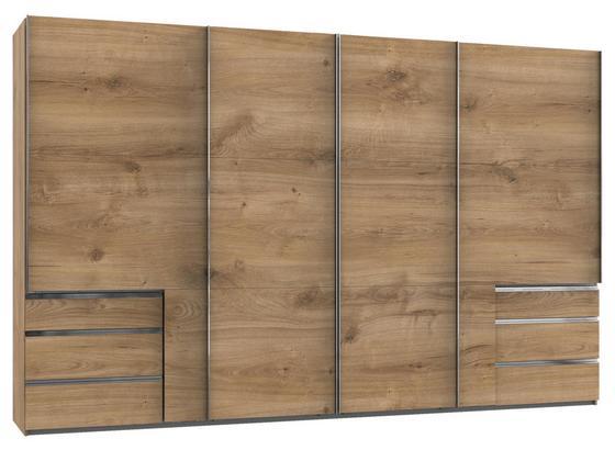Schwebetürenschrank Level 36a B: 350cm Eiche - Eichefarben, Basics, Holzwerkstoff (350,00/216,00/65,00cm)