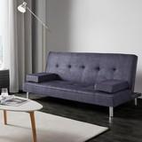 Pohovka S Rozkladom Esther - modrá/sivá, Moderný, umelá hmota/kov (180/80/83cm) - MODERN LIVING